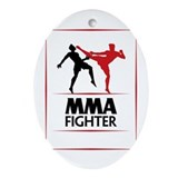 MMA Fighter Ornament (Oval)