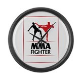 MMA Fighter Large Wall Clock