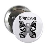 "Butterfly Brain Cancer Survivor 2.25"" Button"