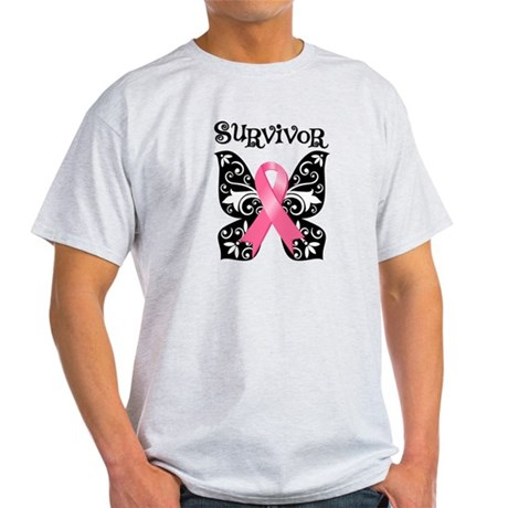 Butterfly Breast Cancer Light T-Shirt