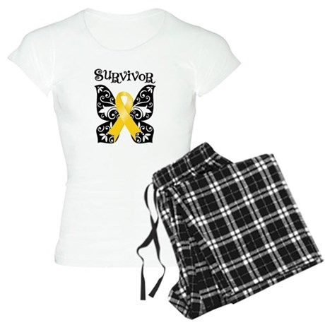 Butterfly Childhood Cancer Women's Light Pajamas