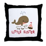 Little Sister - Mod Whale Throw Pillow