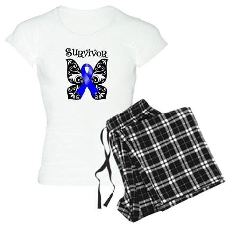 Butterfly Colon Cancer Women's Light Pajamas