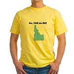Idaho ho Yellow T-Shirt