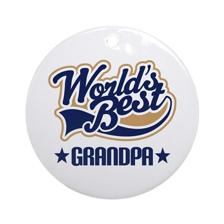 Grandpa (Worlds Best) Ornament (Round)
