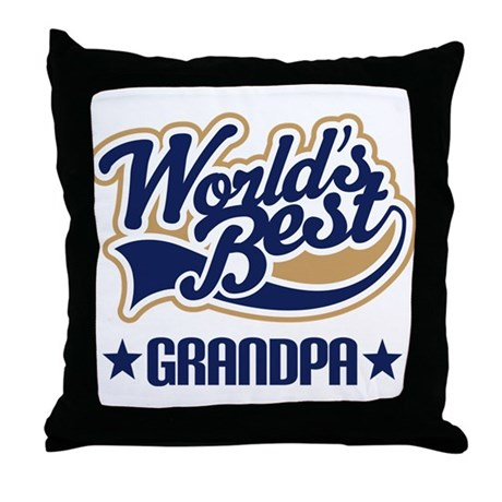 Grandpa (Worlds Best) Throw Pillow
