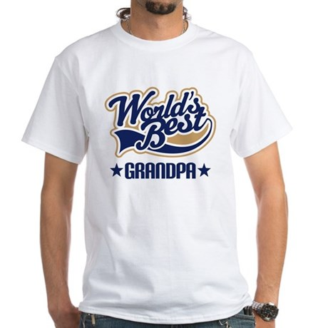 Grandpa (Worlds Best) White T-Shirt
