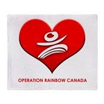 Operation Rainbow Canada Throw Blanket