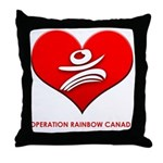 Operation Rainbow Canada Throw Pillow
