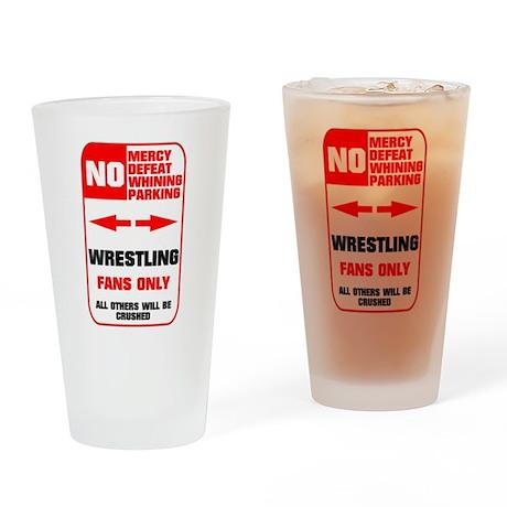 NO PARKING Wrestling Pint Glass