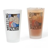 Wrestling PAIN Pint Glass