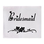 Classic Bridesmaid Throw Blanket