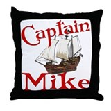 Captain Mike Throw Pillow