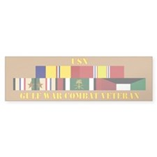 USN Gulf War Vet 2 Star Bumper Sticker