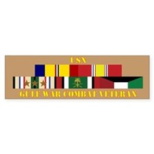 USN Gulf War Vet 3 Star Bumper Sticker