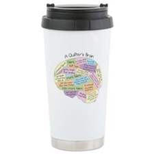 Quilter's Brain Ceramic Travel Mug