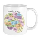 Quilter's Brain Coffee Mug