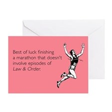 Finishing A Marathon Greeting Card