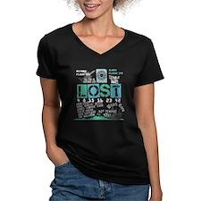 Lost Stuff Women's V-Neck Dark T-Shirt