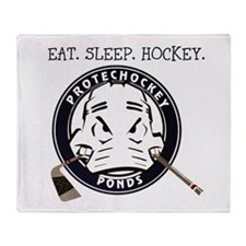 Cute Eat sleep hockey Throw Blanket