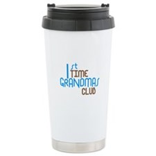 1st Time Grandmas Club (Blue) Ceramic Travel Mug