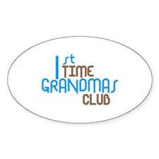 1st Time Grandmas Club (Blue) Decal