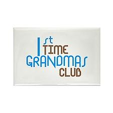 1st Time Grandmas Club (Blue) Rectangle Magnet