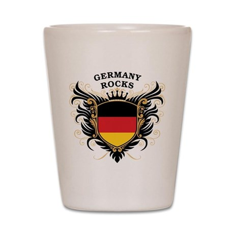 Germany Rocks Shot Glass