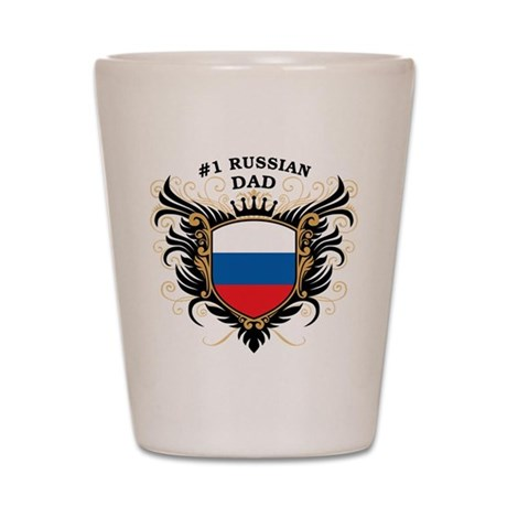 Number One Russian Dad Shot Glass