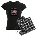 Rick Perry is my hero Women's Dark Pajamas