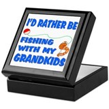 Rather Be Fishing With Grandk Keepsake Box