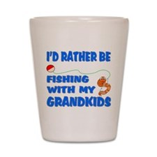 Rather Be Fishing With Grandk Shot Glass