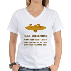 U.S.S. Enterprise Women's V-Neck T-Shirt