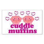 Cuddle Muffins Sticker (Rectangle 50 pk)