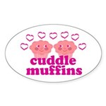 Cuddle Muffins Sticker (Oval)