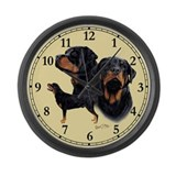 Rottweiler Large Wall Clock