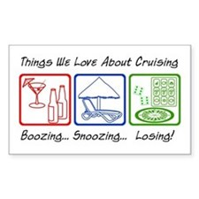Boozing, Snoozing... Decal