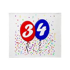 34th Birthday Throw Blanket