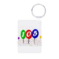 105th Birthday Aluminum Photo Keychain