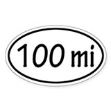 100 mi Oval  Aufkleber