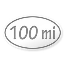 100 mi Oval Decal