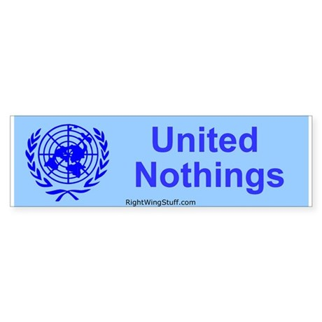 """United Nothings"" Bumper Sticker"