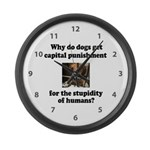 Capital Punishment Large Wall Clock
