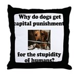 Capital Punishment Throw Pillow