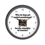 Capital Punishment Wall Clock