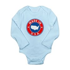 Made In USA Long Sleeve Infant Bodysuit