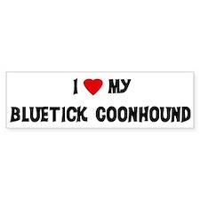 Bluetick Coonhound Bumper Bumper Sticker
