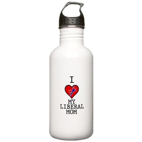 I Love My Liberal Mom Stainless Water Bottle 1.0L