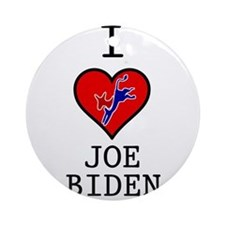 I Love Joe Biden Ornament (Round)