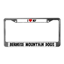 Bernese Mountain Dogs License Plate Frame